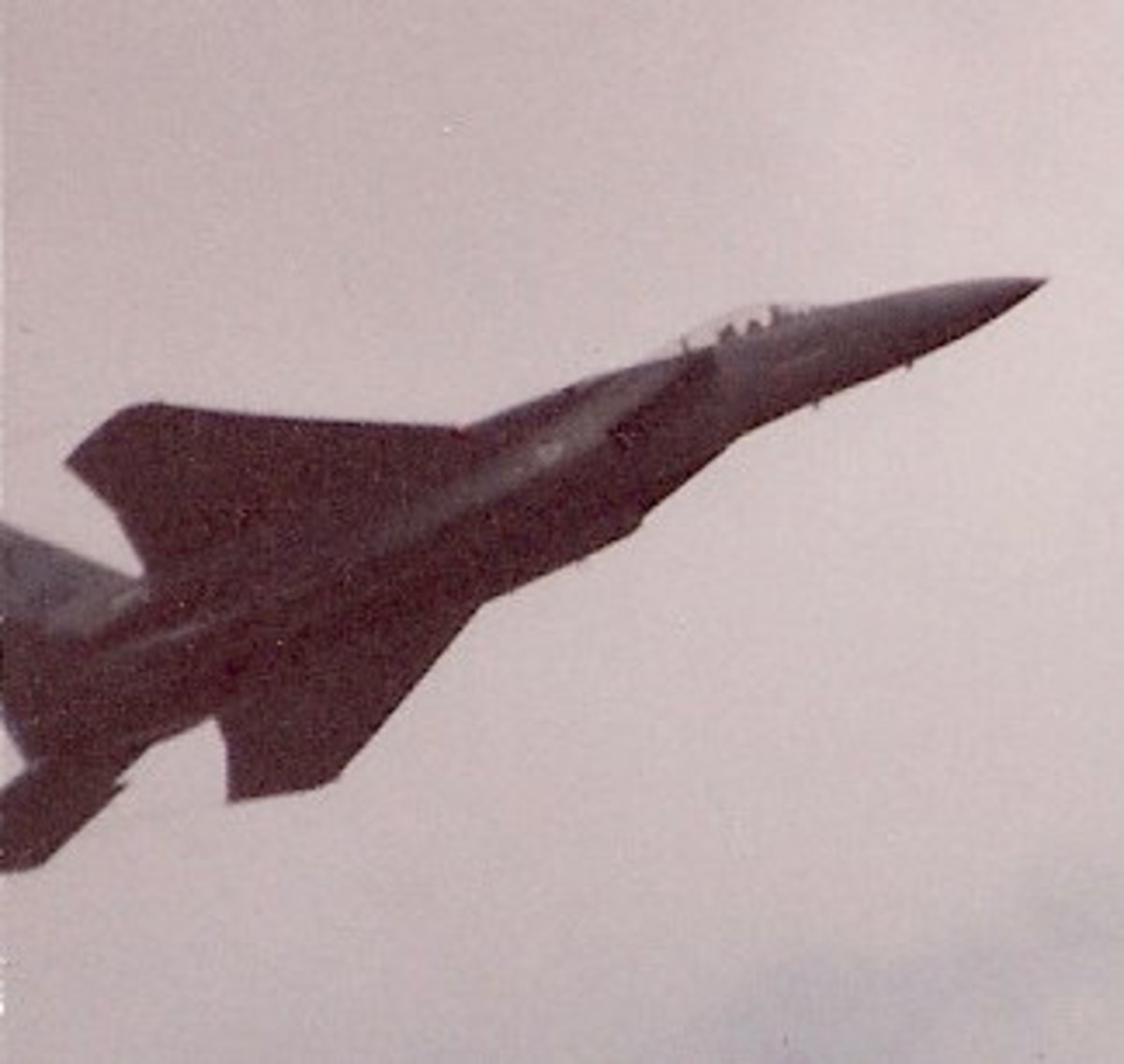 An F-15 during a performance at Andrews AFB, MD, May 1993.