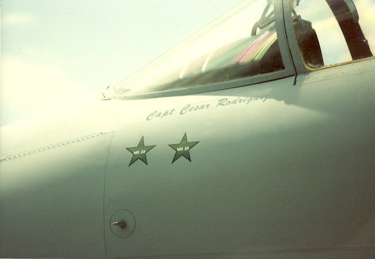 Kill markings on an F-15.  Kills made during Operation Desert Storm.  F-15 on display on the Washington Mall, June 1991.