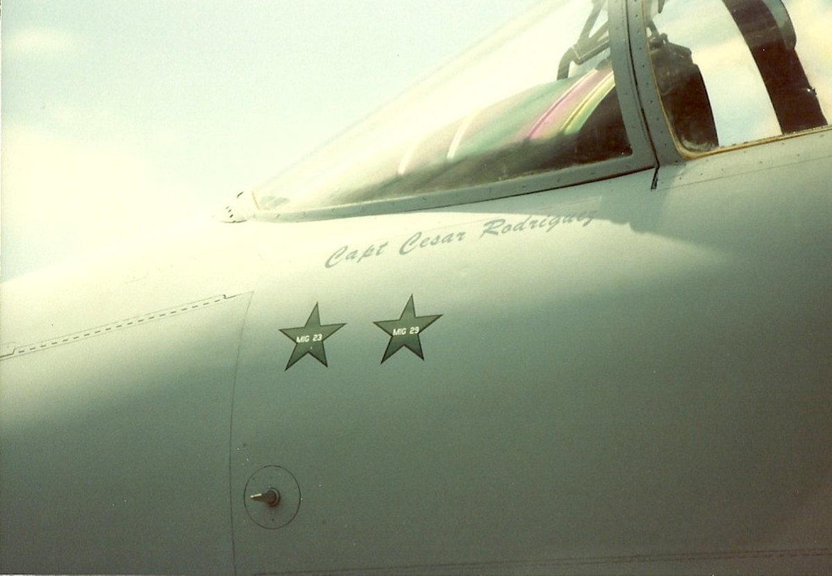 Kill markings on an F-15.  Kills made during Operation Desert Storm.  F-15 on display on the Washington Mall, June 1991.
