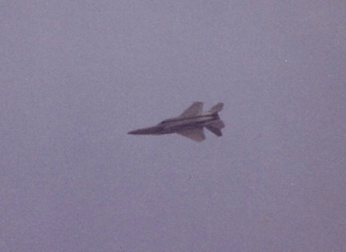 An F-15 performs at Andrews AFB, MD, May 1993.