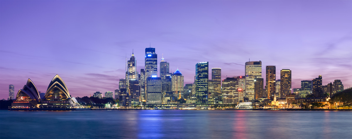 A panoramic view of Sydney, the largest city in Australia, and a hub for illegal heroin usage.