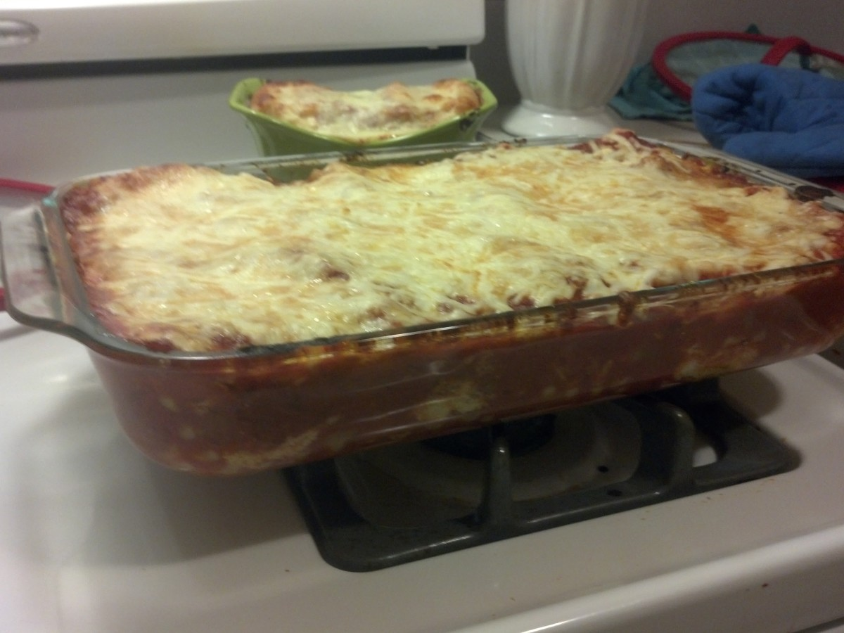 The finished lasagna.