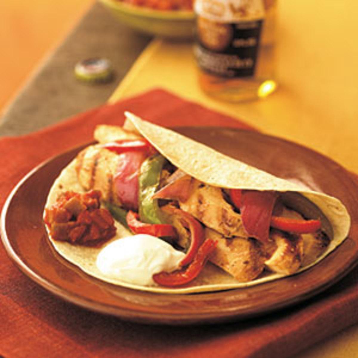 Quick Healthy Chicken Fajita Recipe
