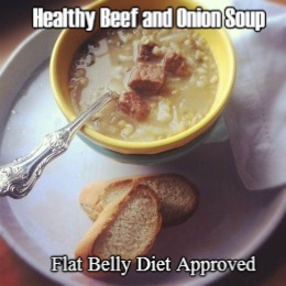 Healthy Beef and Onion Soup Recipe (Flat Belly Diet Approved)