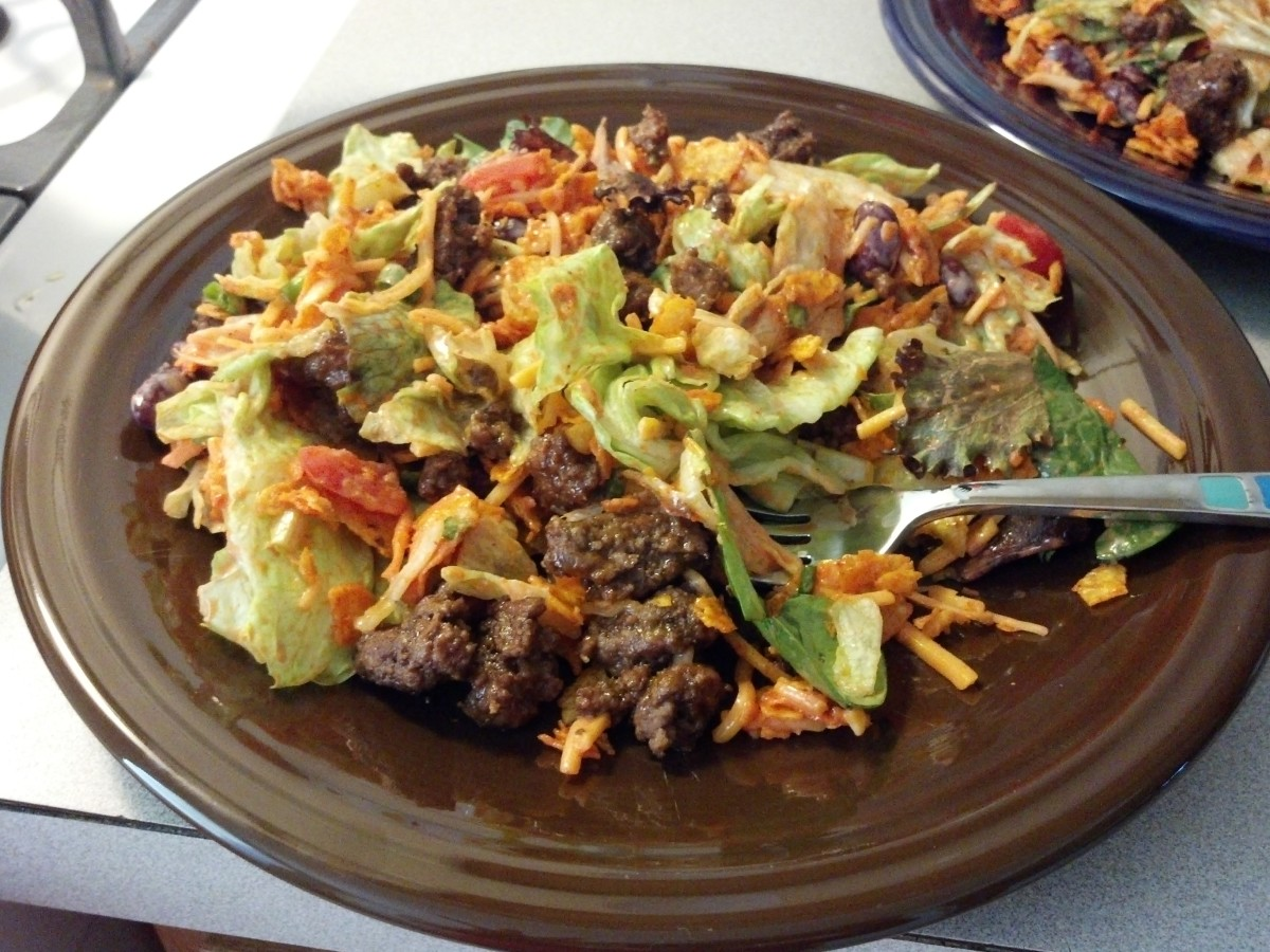 An Easy Taco Salad Recipe with Suggestions, and Hints for Picky Eaters