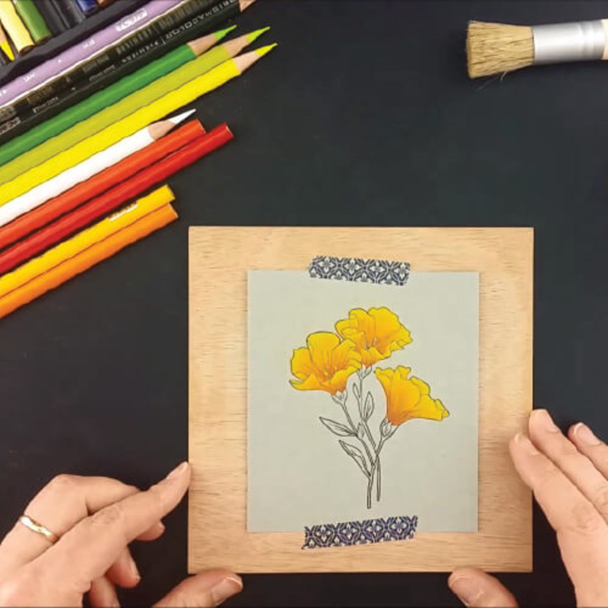Colored pencils are far more forgiving than other mediums when coloring stamped images