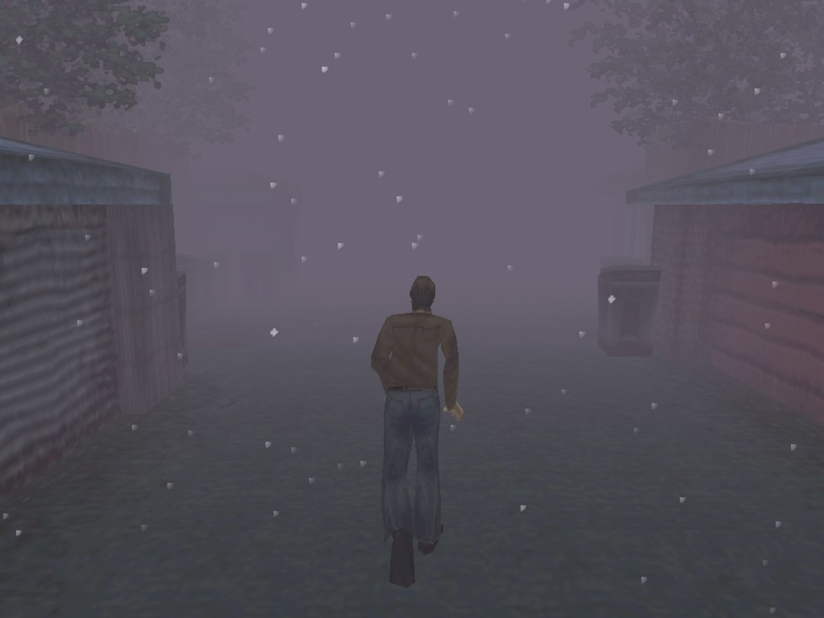 The foggy streets of Silent Hill