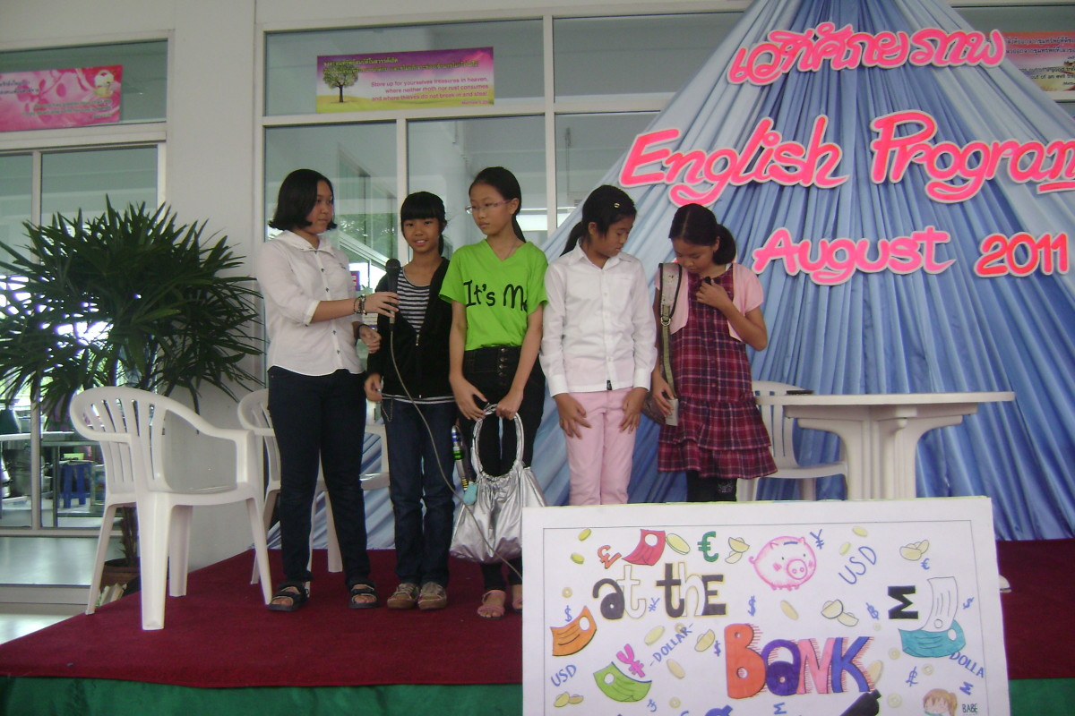 Some of my students putting on a play for parents on a Saturday morning in 2011.