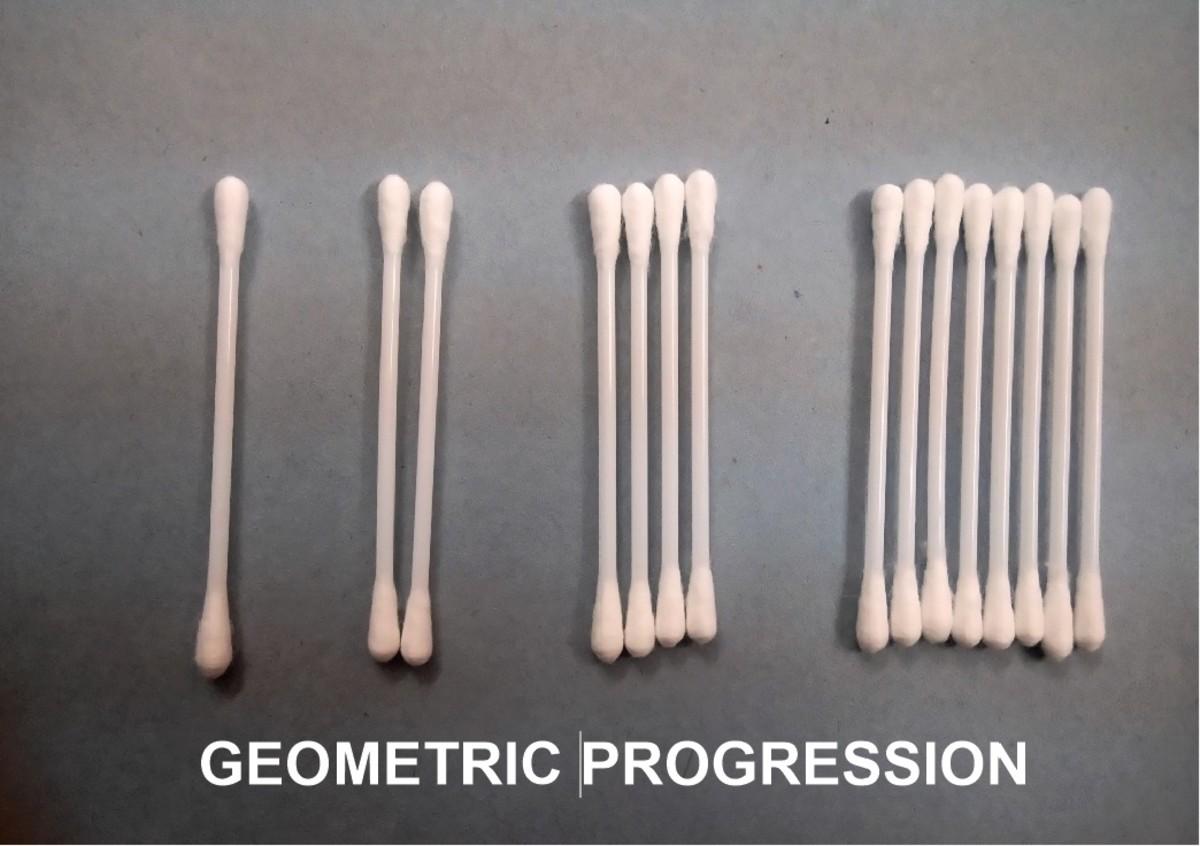Each group is increasing in multiple of 2 - a simple GP
