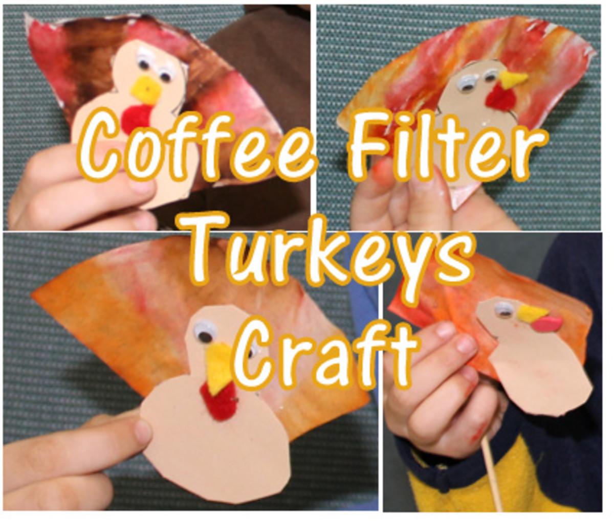 Coffee Filter Turkey Crafts
