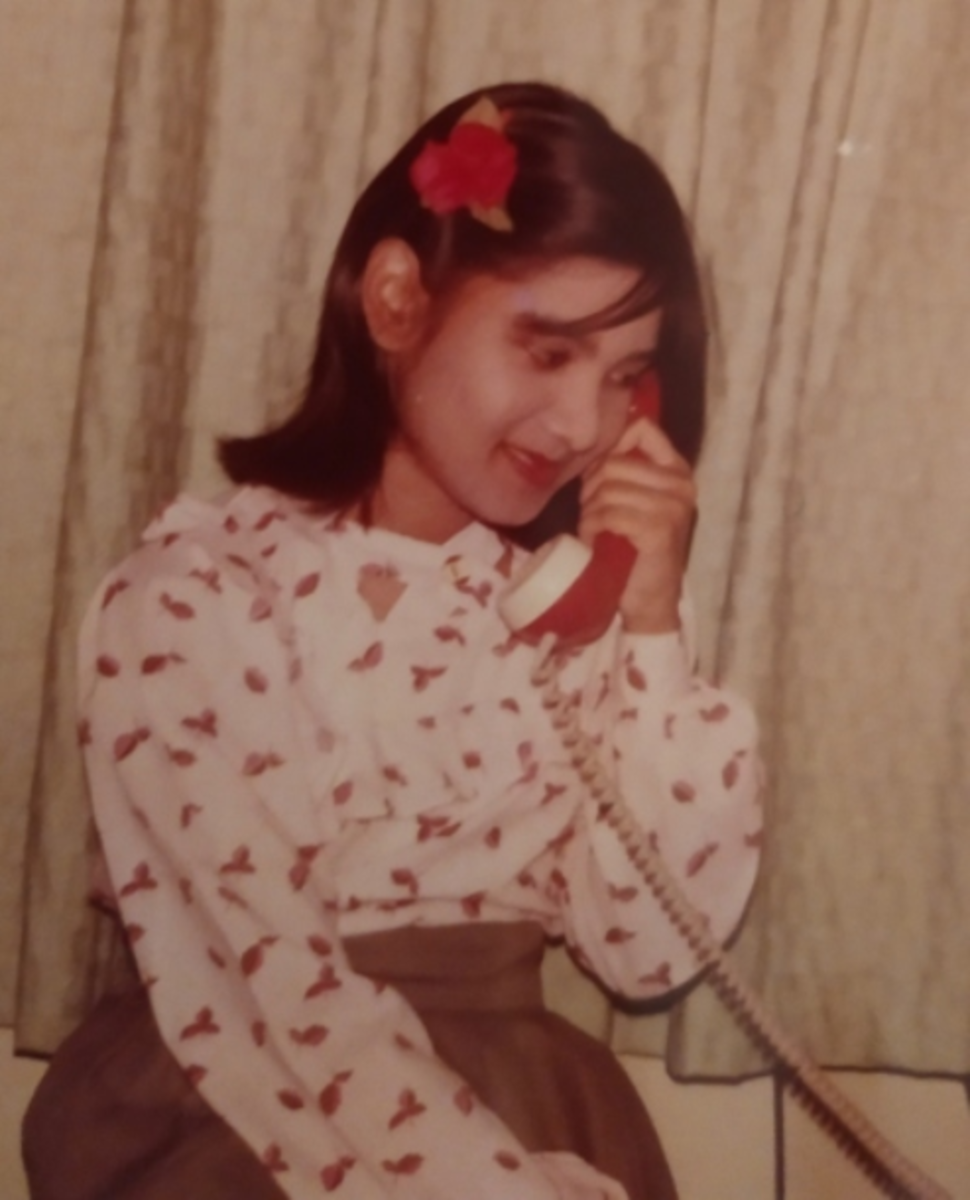 Pic16: Myself Talking Happily with Relatives over the Analog Phone