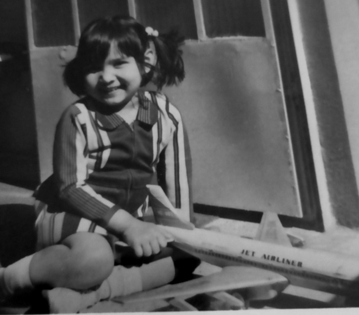 Pic9: Myself Posing with My Toy Airplane