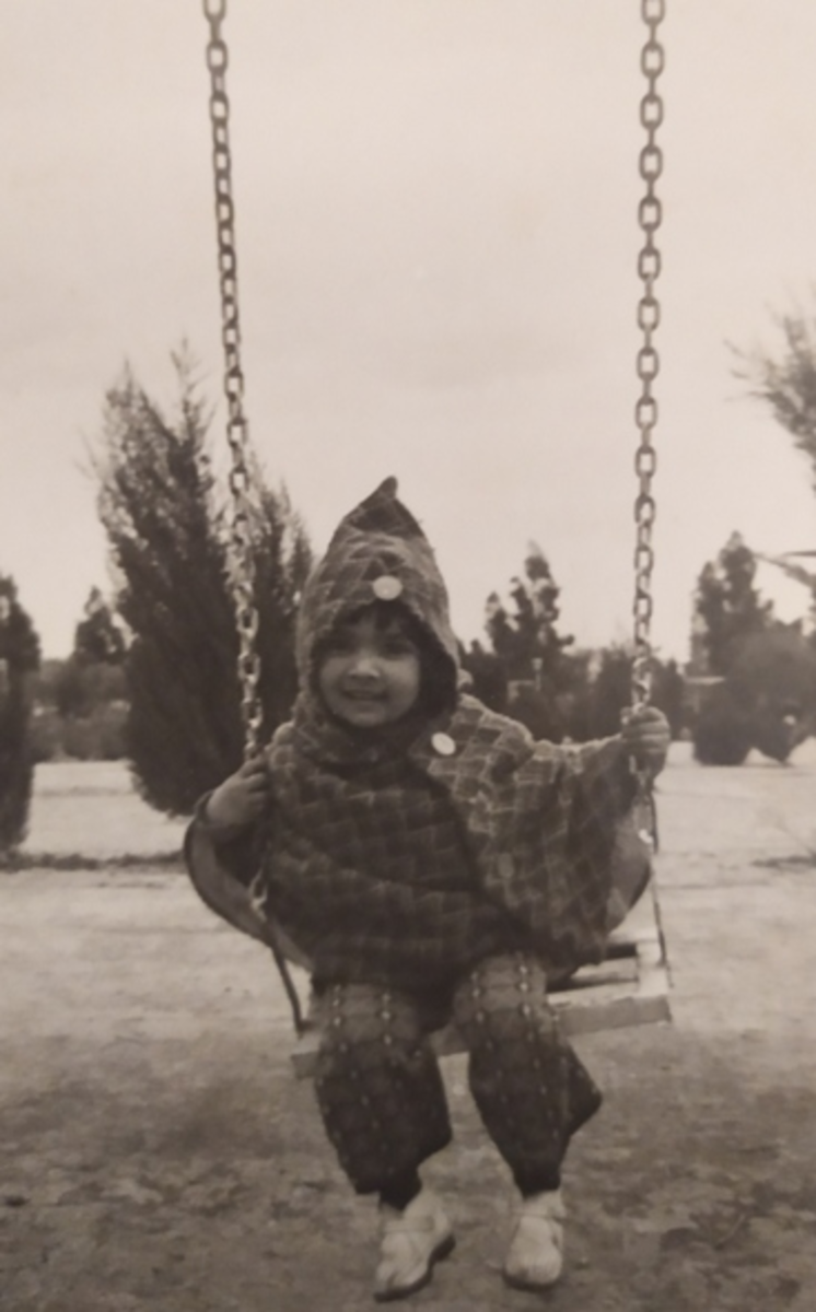 Pic12: Myself Enjoying a Ride on the Swing at a Nearby Park