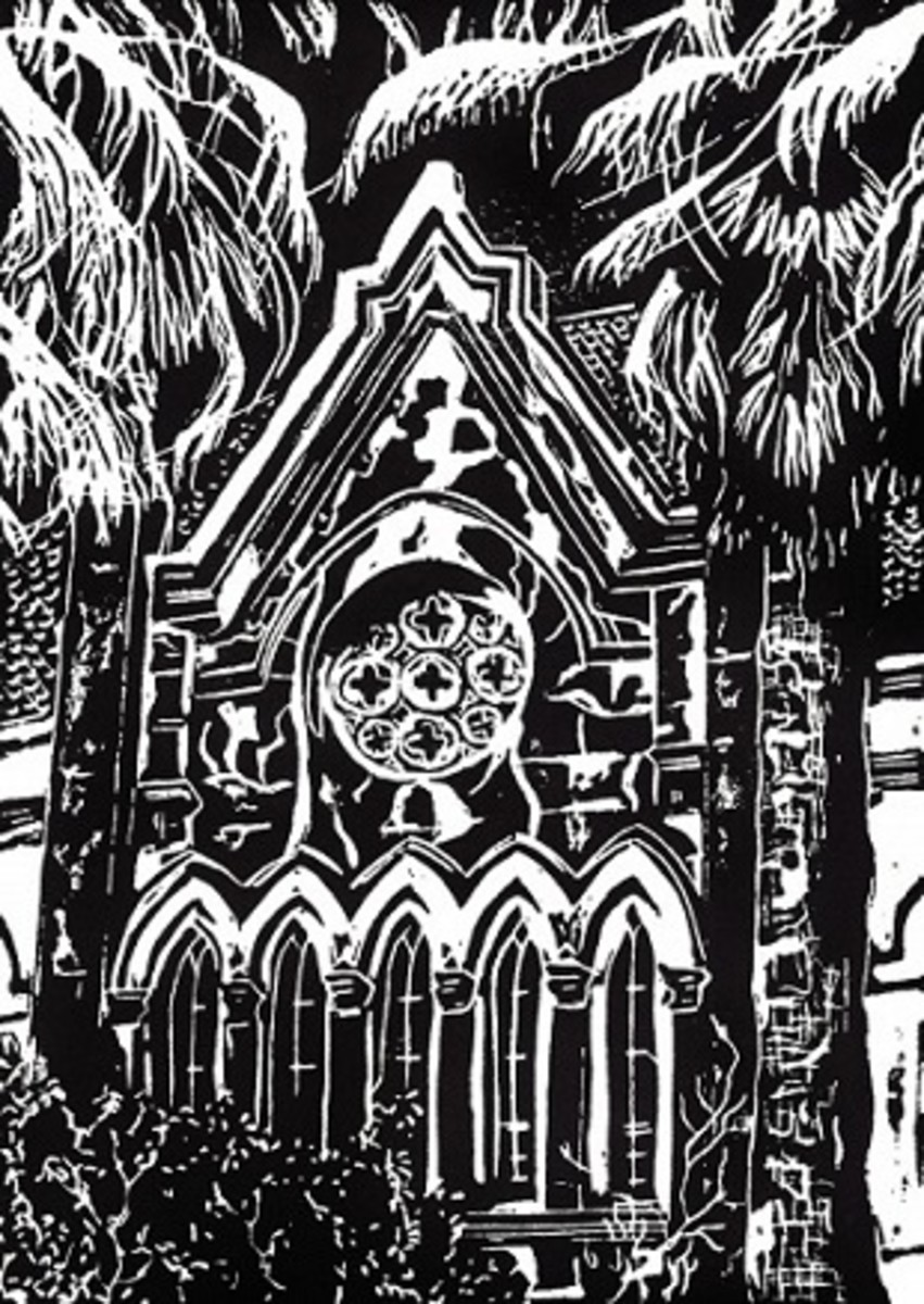 My limited edition print of Eaton Memorial Chapel in Galveston