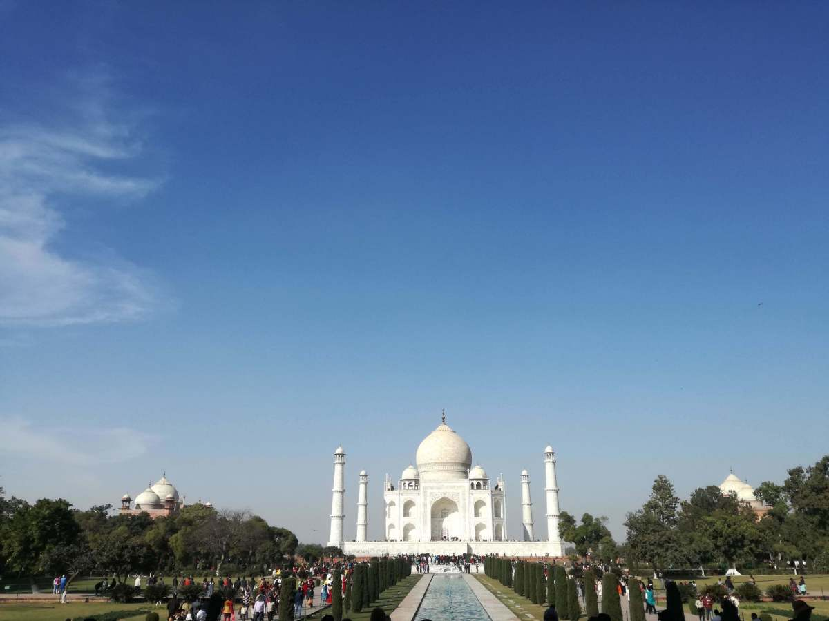 The Taj Mahal is gorgeous and worth seeing, but be ready for some serious crowds.
