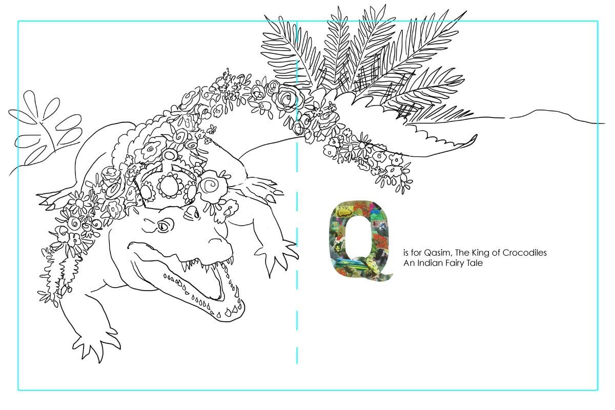 Thumbnail drawing for Qasim, King of the Crocodiles