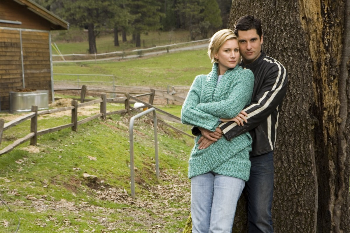 """Alice Evans and John Haymes Newton from """"The Christmas Card"""""""