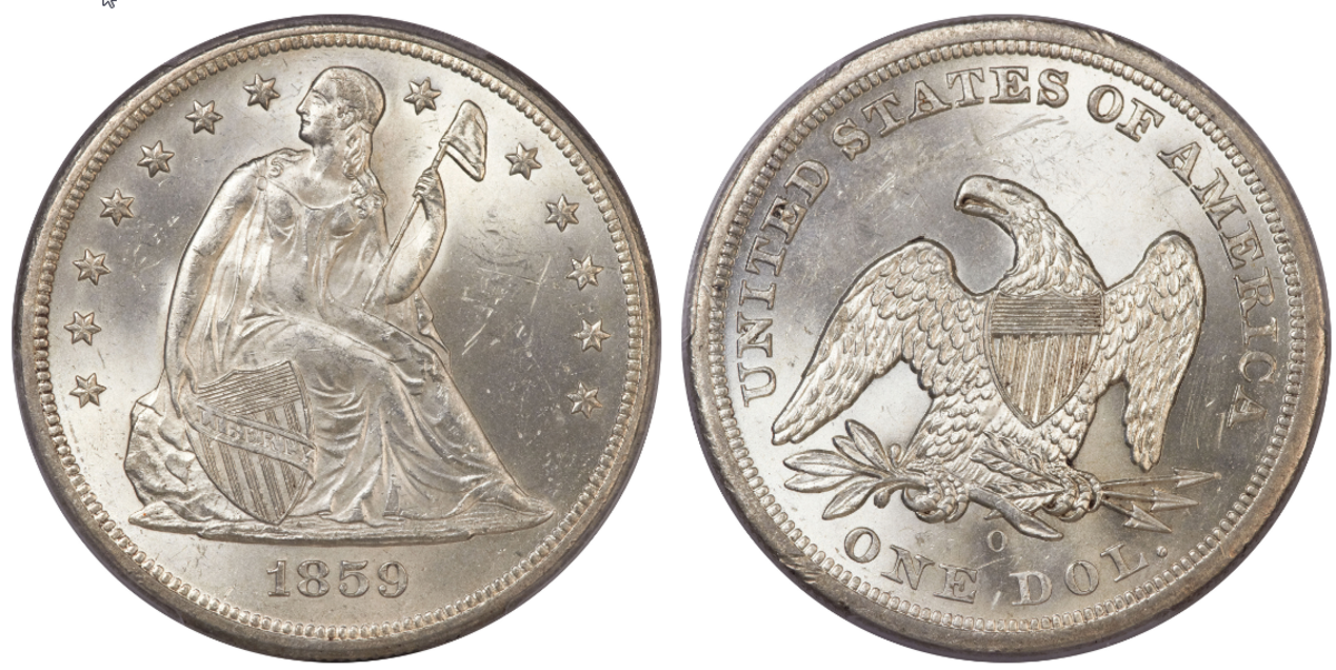 Around 1859 the first shipments of silver were heading to San Francisco to be minted into silver dollars.