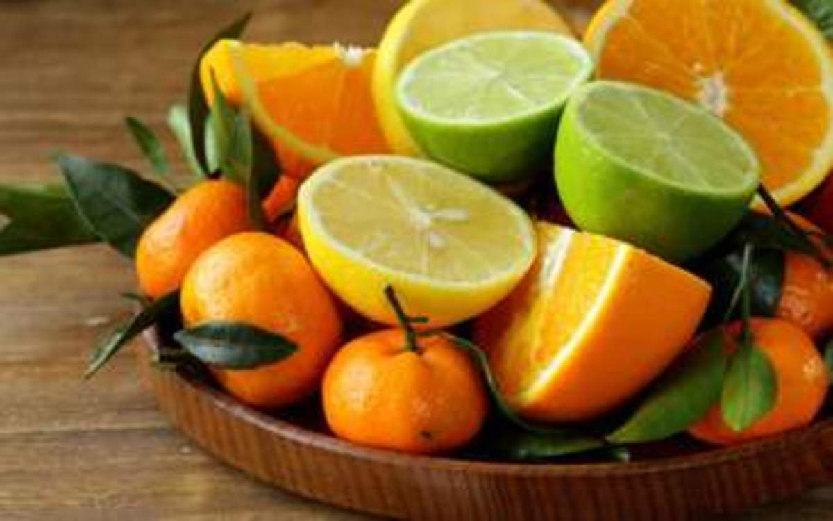 Energy booster citrus fruits