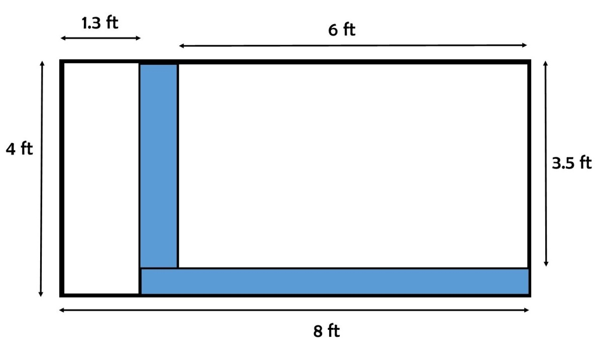 Measurements for a 6 ft. by 3.5 ft. bed you can use as guide.