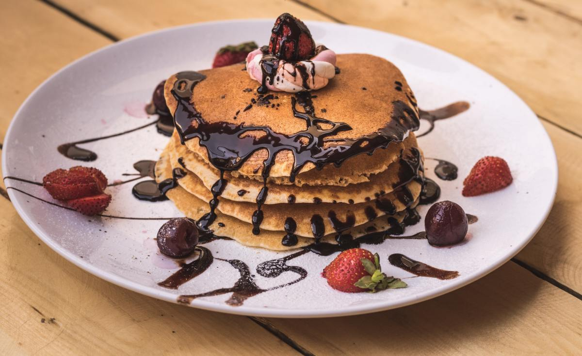 Easy Chocolate Pancakes
