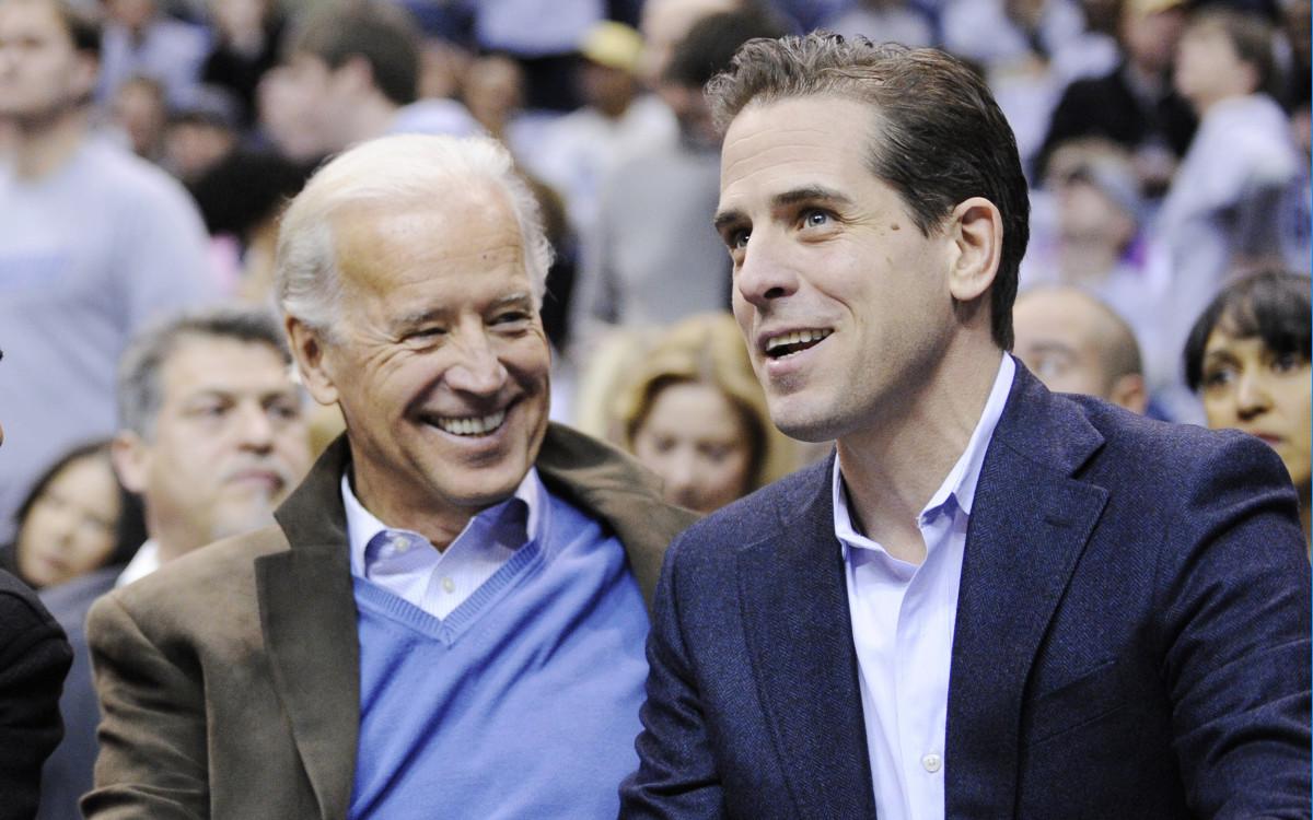 Joe and Hunter Biden during a basketball game in 2010