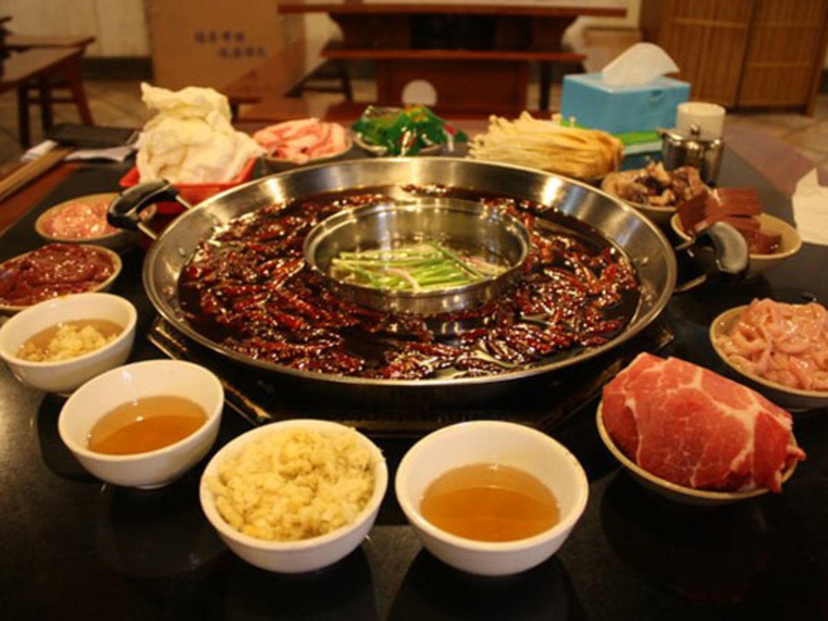 Chongqing hotpot, the traditional hotpot of China.