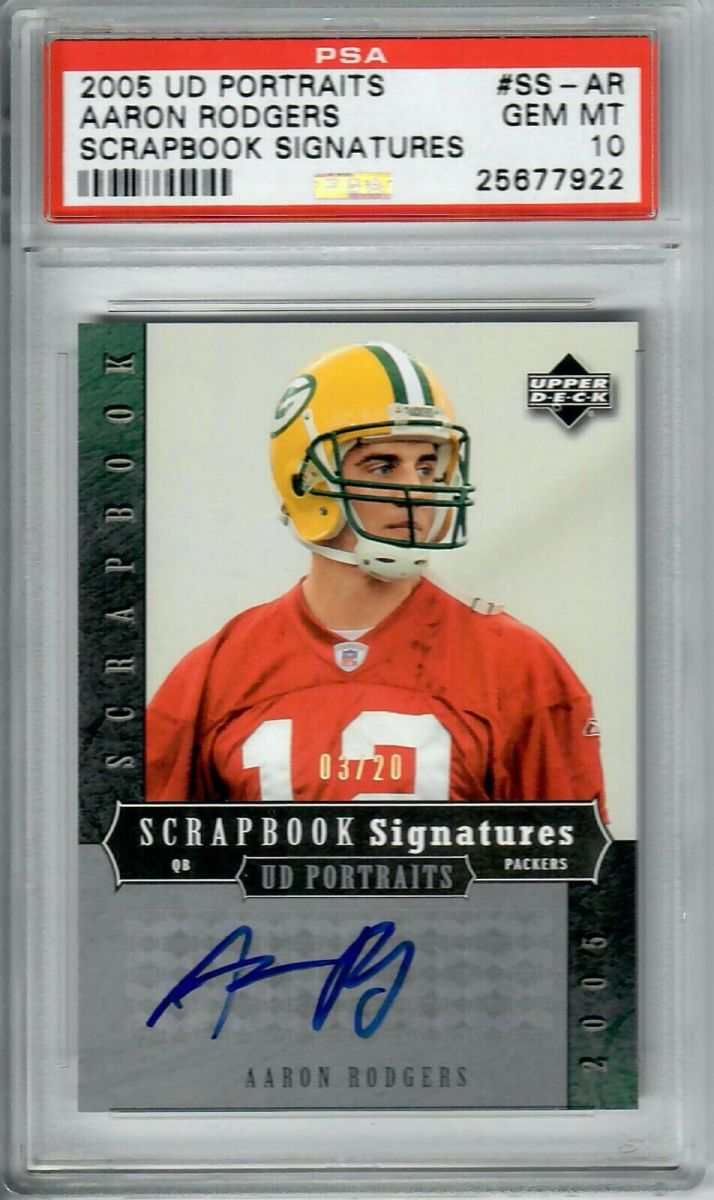 A rare PSA 10 of Aaron Rodgers