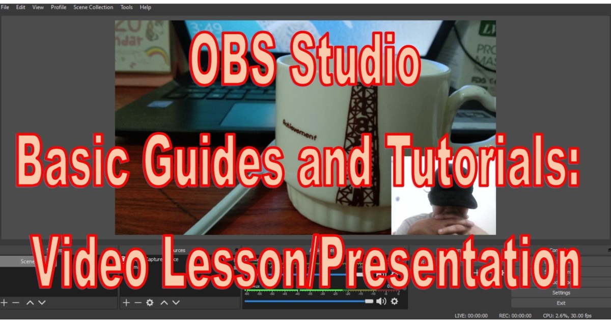 Making a Video Lesson Presentation in Open Broadcaster Software
