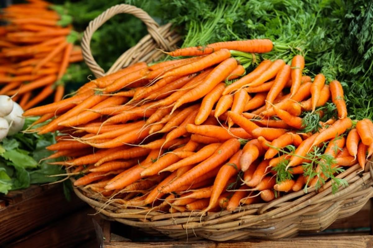Carrots are superfoods loaded with a lot of vitamins and minerals.