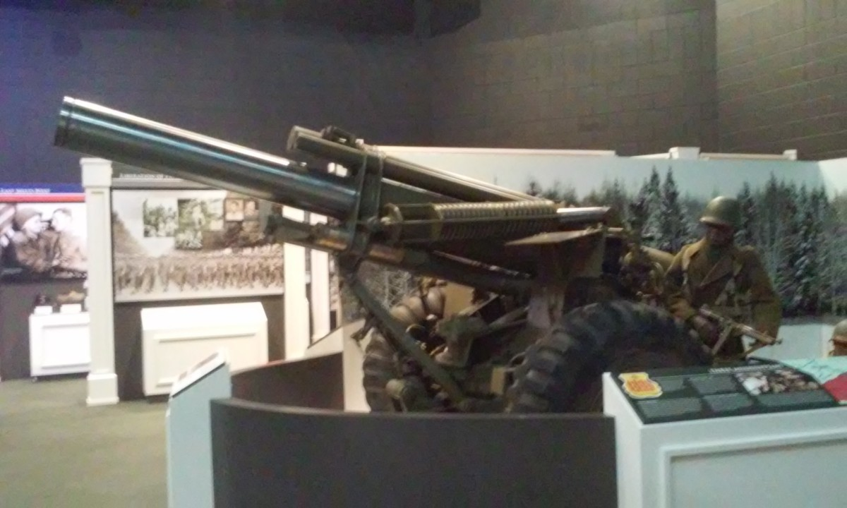 Larger weaponry, Mississippi Armed Forces Museum, Hattiesburg, MS