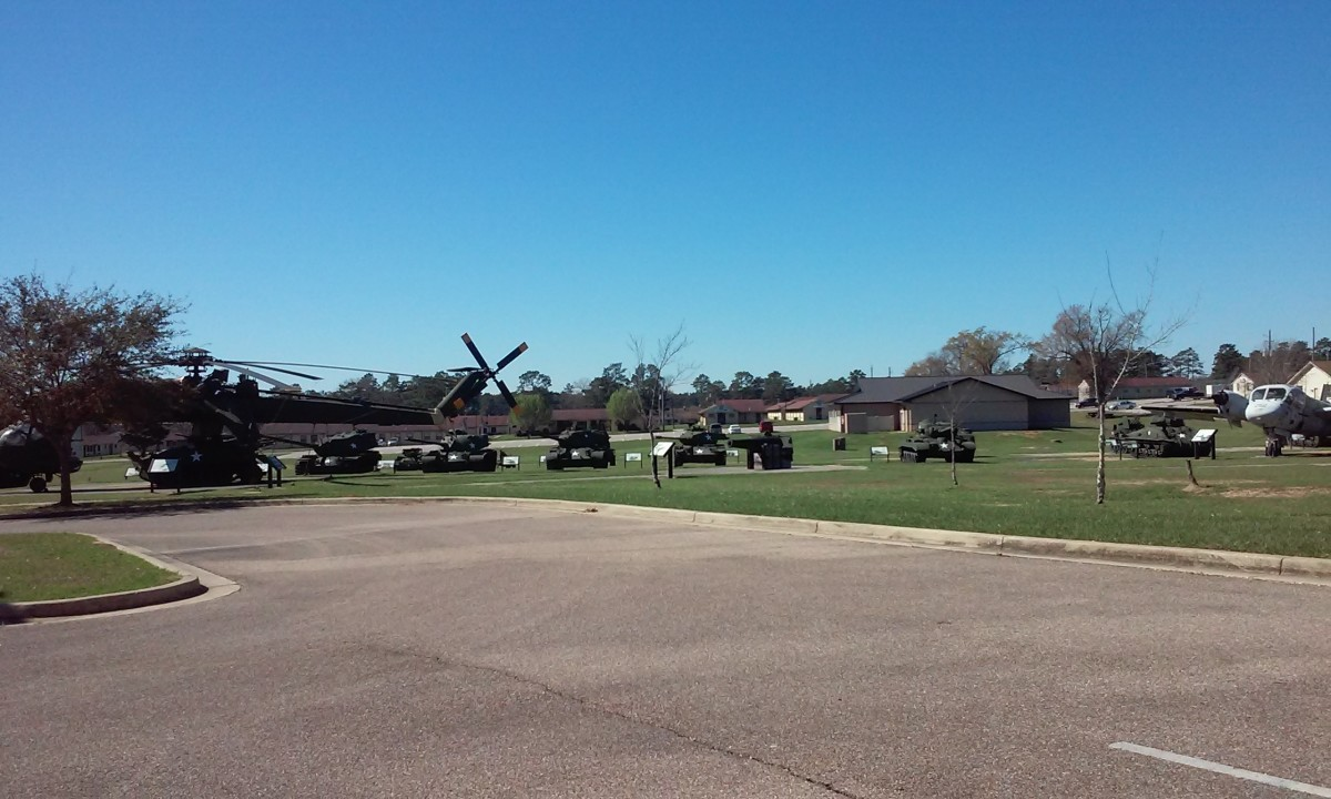 Outdoor exhibits, Mississippi Armed Forces Museum, Hattiesburg, MS