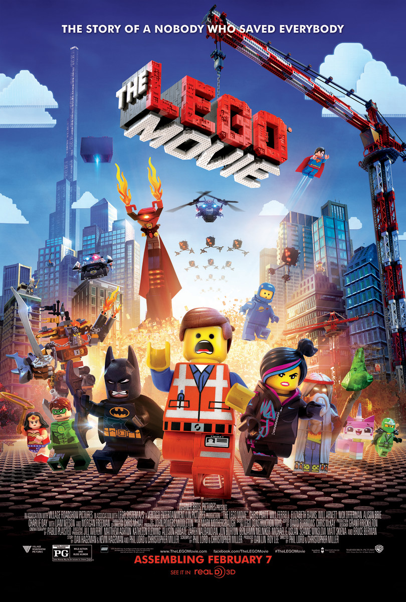 The main character Emmet is front and center in The LEGO Movie.