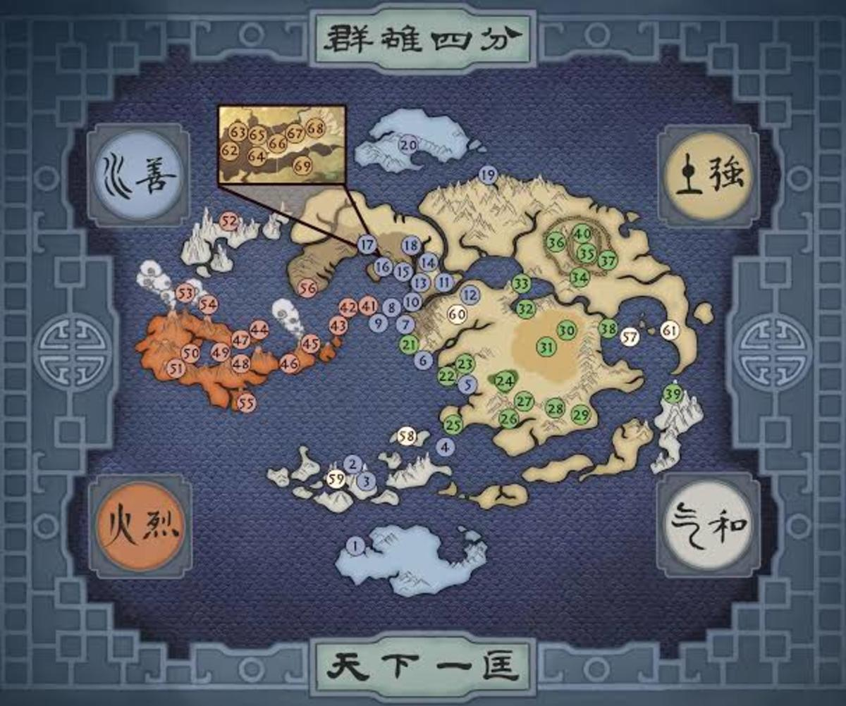 Map of the world of Avatar.