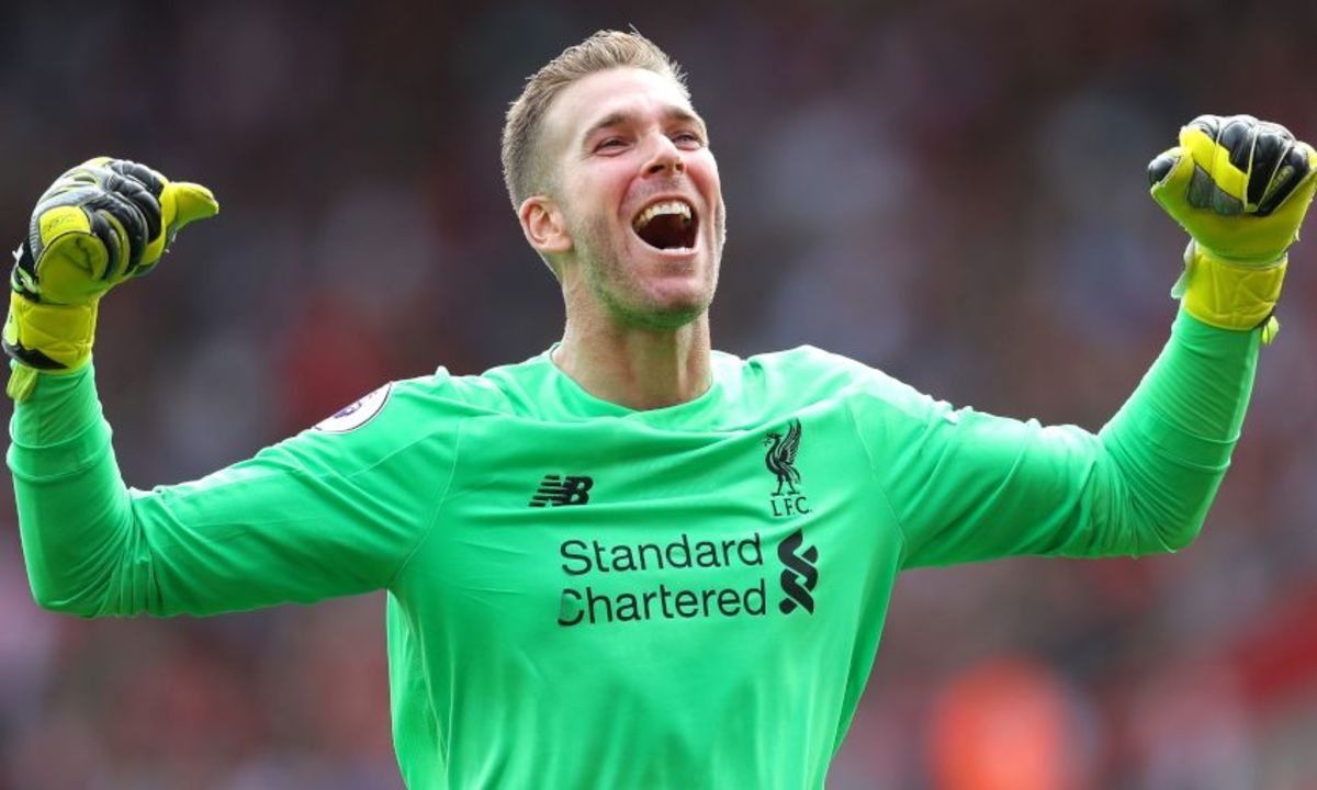 Adrian celebrating after a win for Liverpool FC