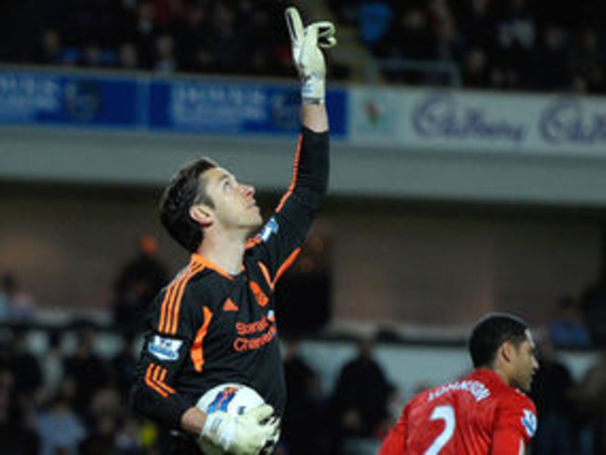 Brad Jones paying tribute to his son Luca after a penalty save on his first match.