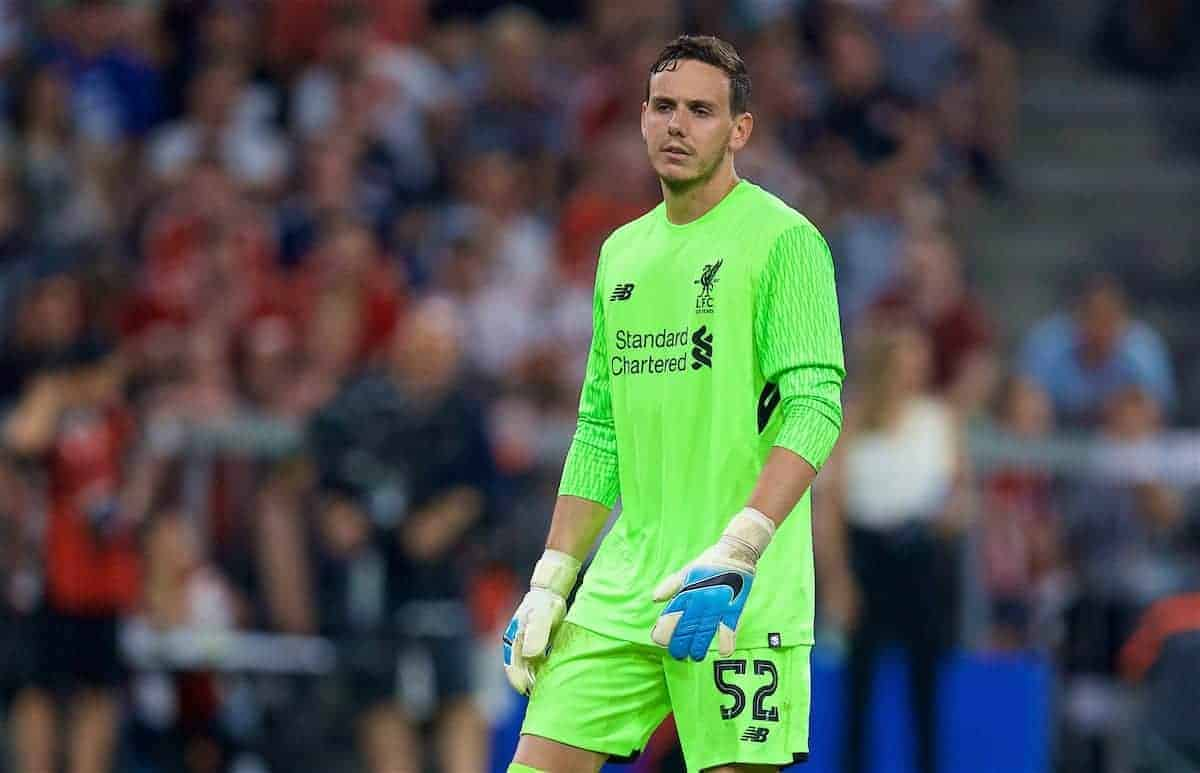 Danny Ward during one of his few games for Liverpool FC