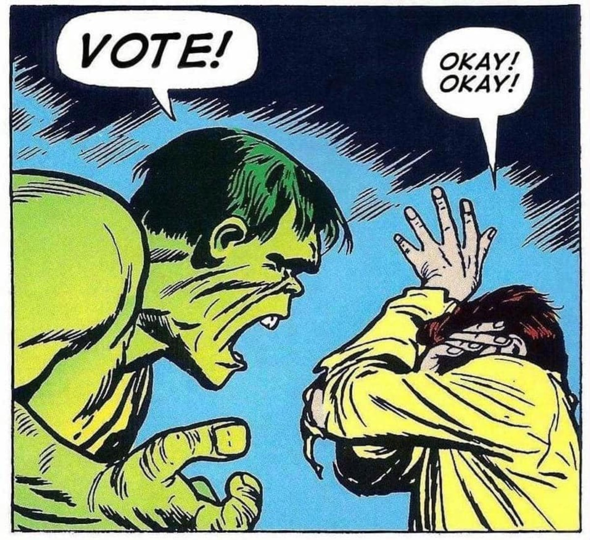 Even the Hulk want's you to vote