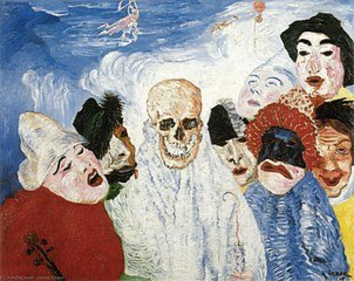 James Ensor, Death and the Mask (1897)