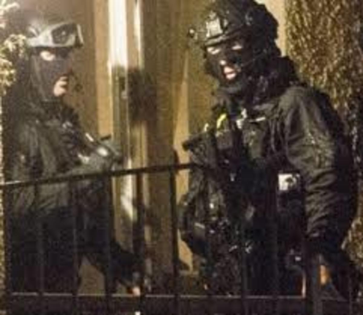 MI5-tasked storm troopersharassing IRSP community activists.