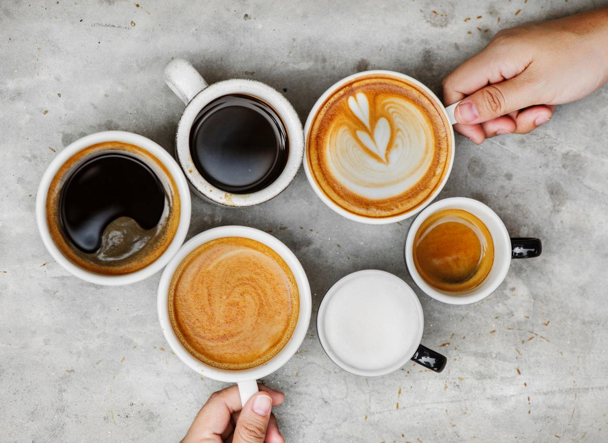 Pictures of the different types of artisan coffee.