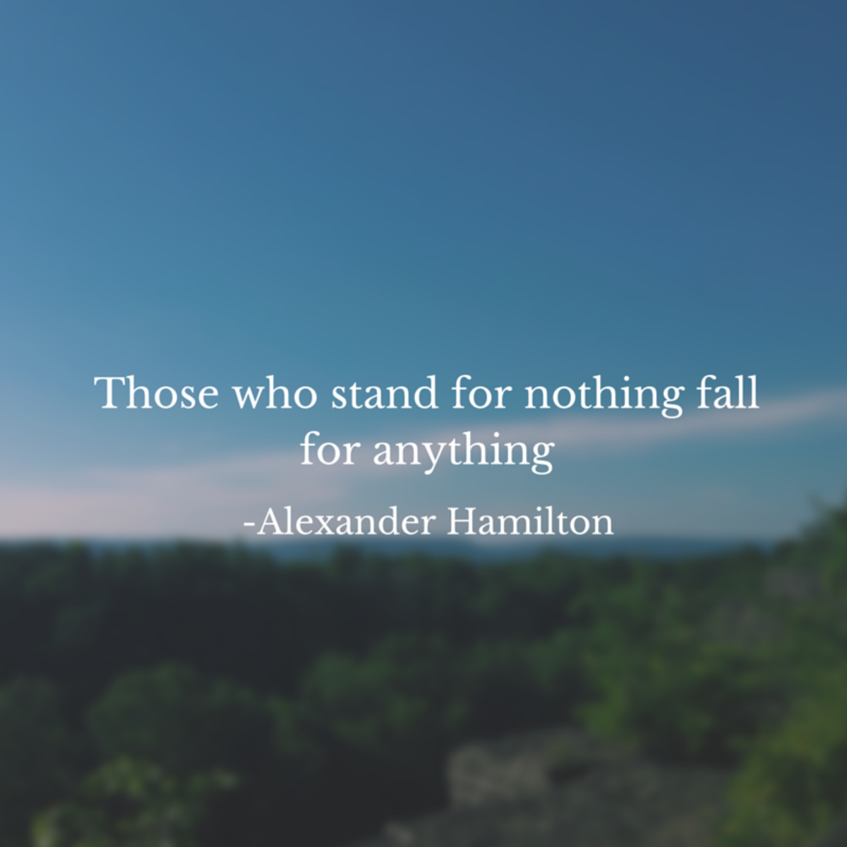 Standing Tall; Choosing Not to Fall