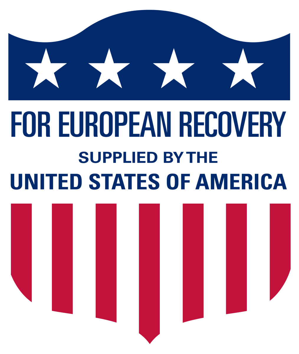 From the USAID Graphic Standards Manual.  The Marshall Plan was a post-WW Two project from 1948 to 1951 enacted to give war torn Europe a boost in their economy. $12 billion dollars ($130 billion today) was loaned.