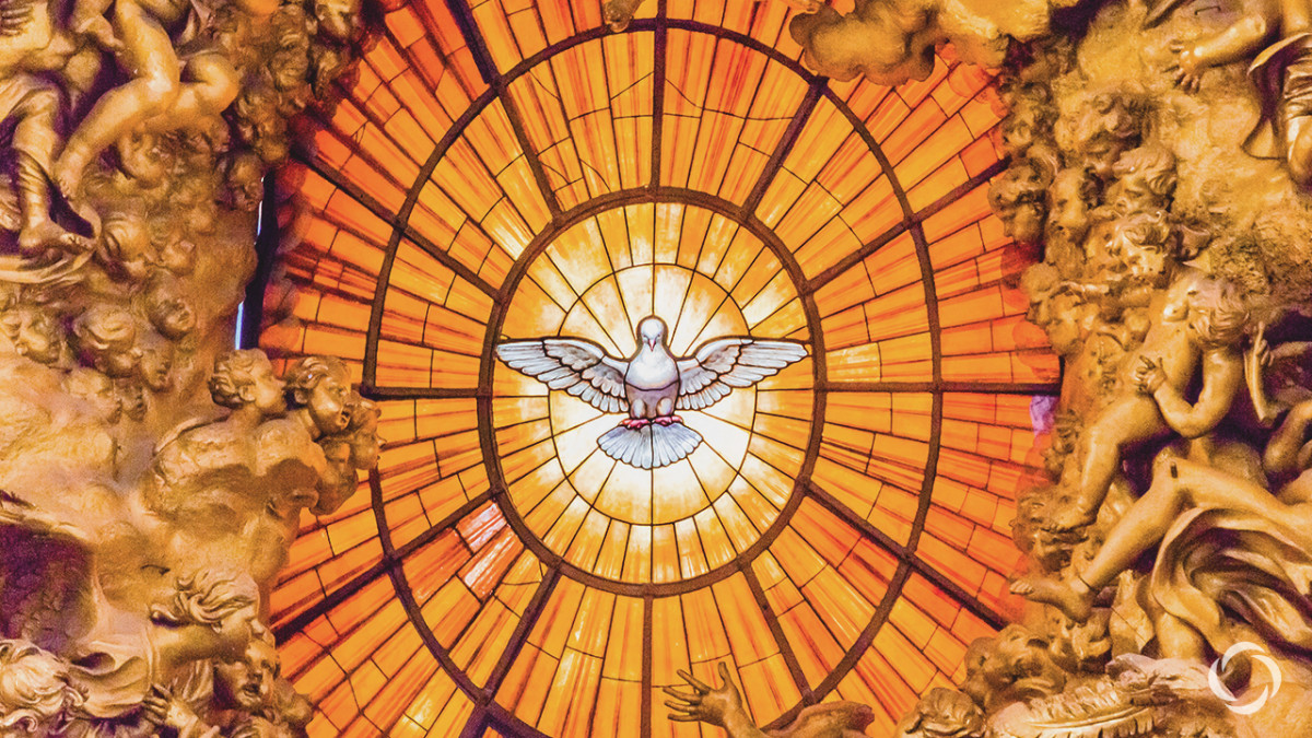 In the Roman Catholic church, people already believe in The Holy Spirit. In this photo the Holy Spirit is represented from a dove. But in reality The Holy Spirit can be said to be everywhere in the universe and represents God spiritual powers.