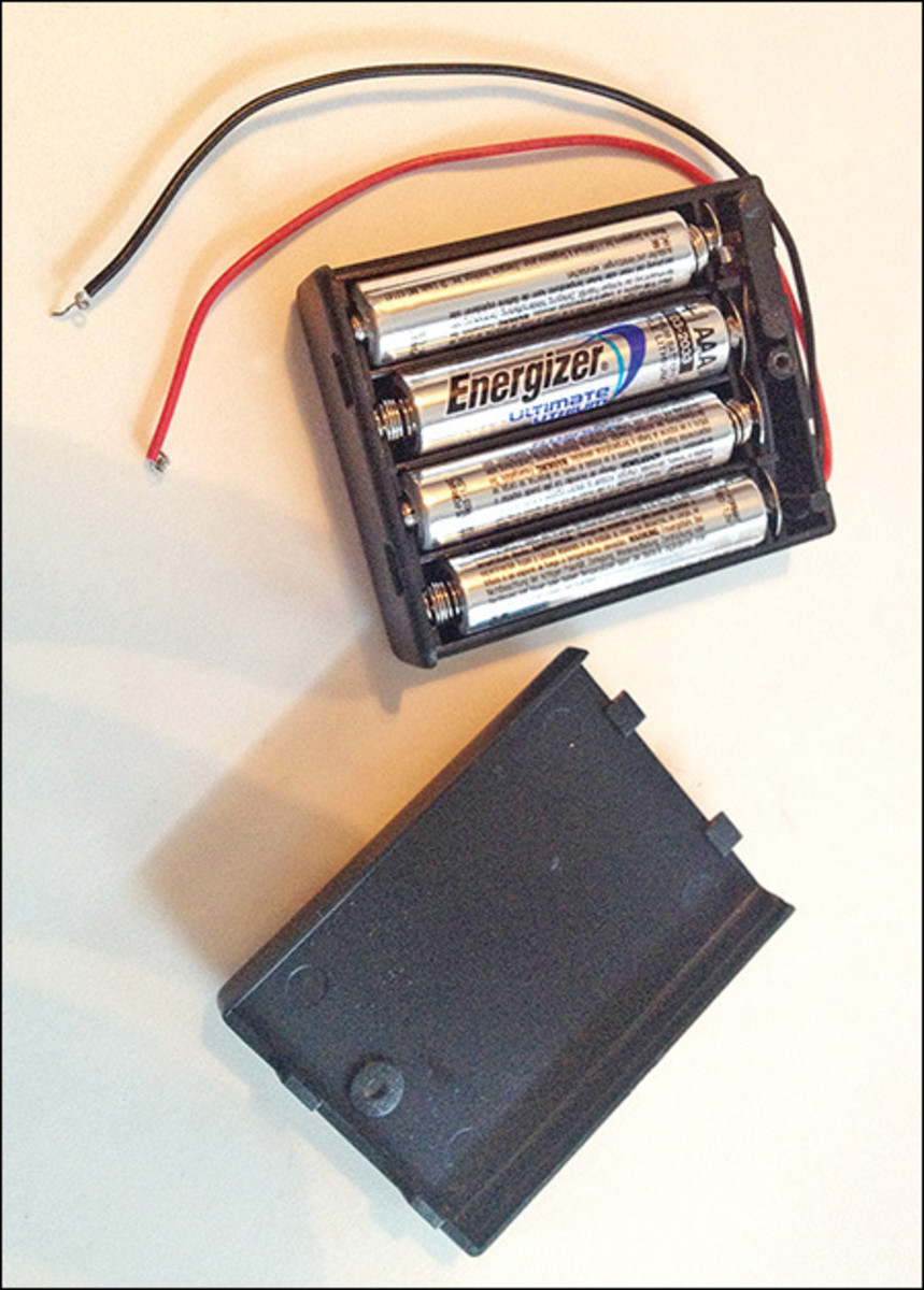 2. Place batteries in the battery pack