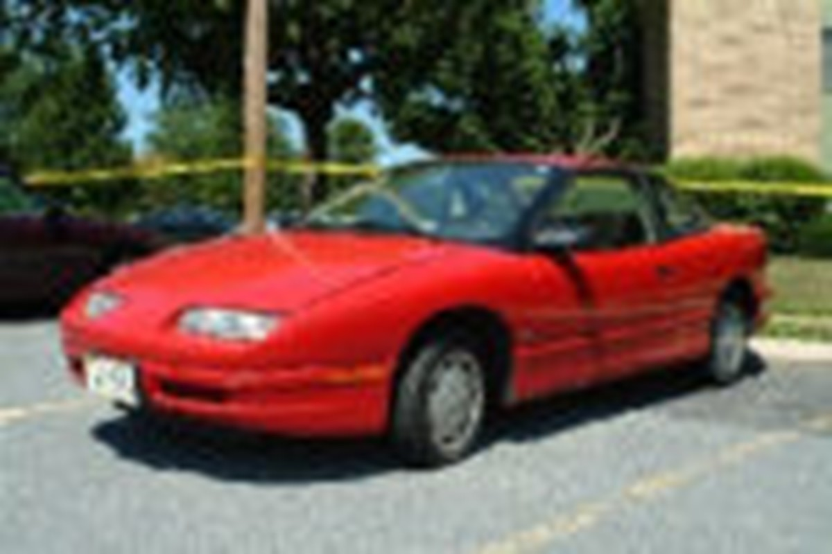 Joey Lynn Offutt's 1994 red Saturn was found abandoned on July 15, 2007, at a previous residence in Sykesville, Pennsylvania. Photo courtesy of FindJoey.com.