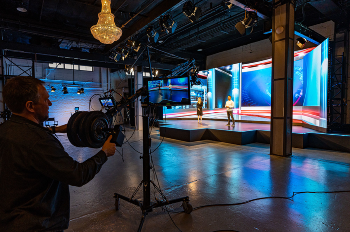 A picture of a production set