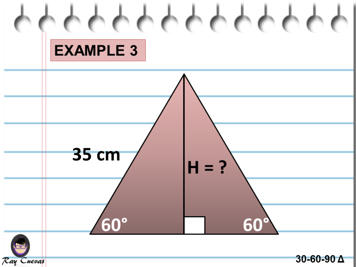 Finding the Altitude of an Isosceles Right Triangle Using the 30-60-90 Triangle Theorem