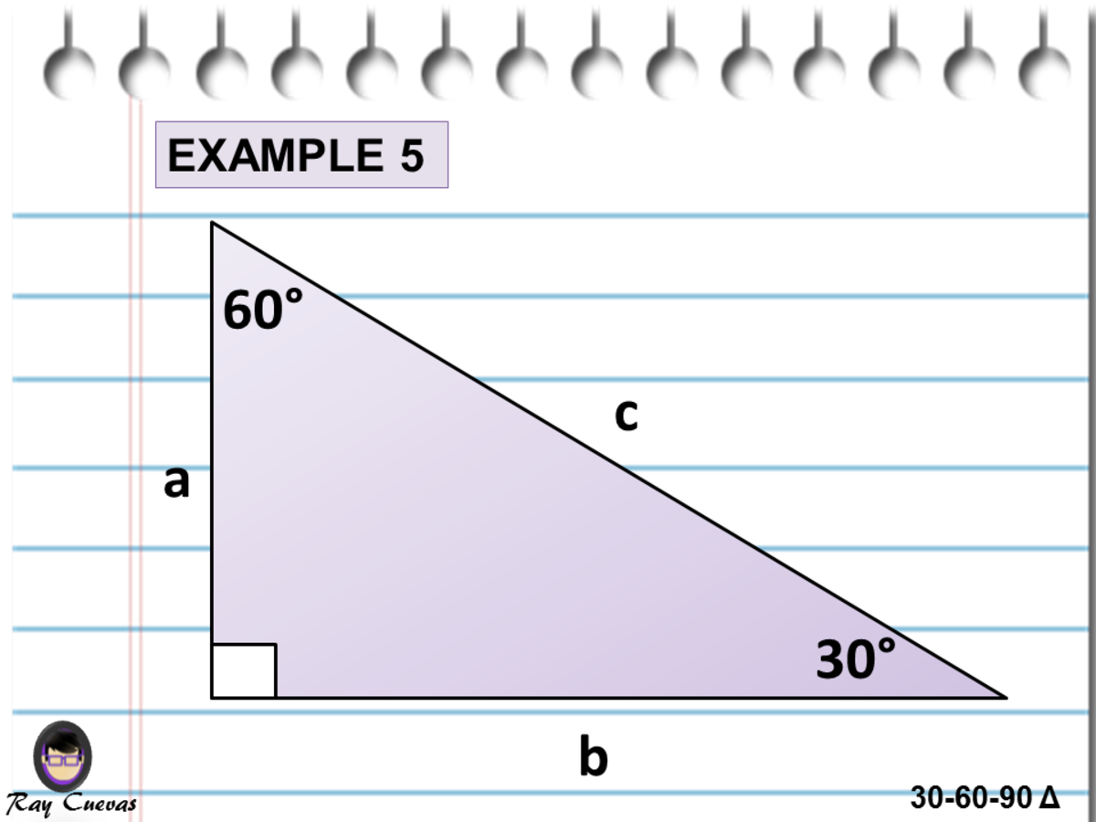 Finding the Missing Sides Given One Side of a 30-60-90 Triangle