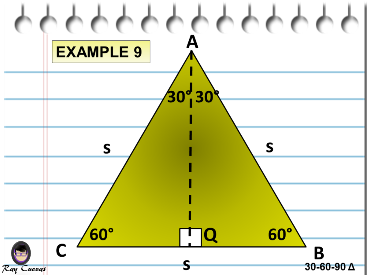 Finding the Area of Two 30-60-90 Triangles